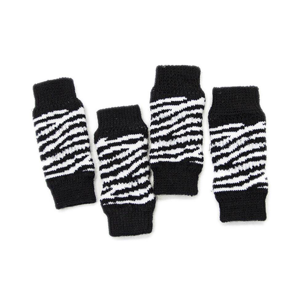 Big House 4pcs/set Pet Kneecap Socks Leg Protector Injury Foot Protective Sleeve Protect Wounds For Pet Supplies Stype:black And White(s) By Big House.