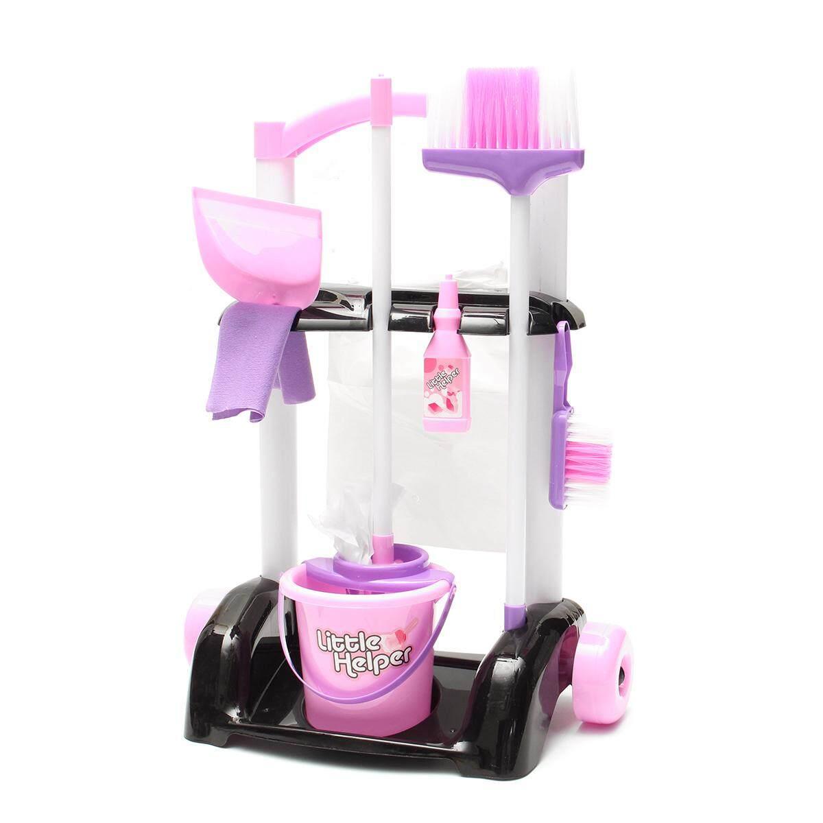 Hình ảnh Trolley Pretend Cleaning Set Kids Role Play Children Toy - intl