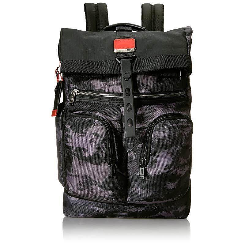 Tumi Men's Alpha Bravo London Roll-Top Backpack , Charcoal Restoration