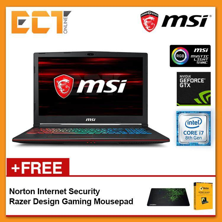 MSI GP63 8RE-299 Gaming Laptop (i7-8750H 4.10GHz,1TB+256GB SSD,8GB,GTX1060-6G,15.6 FHD,W10) Malaysia