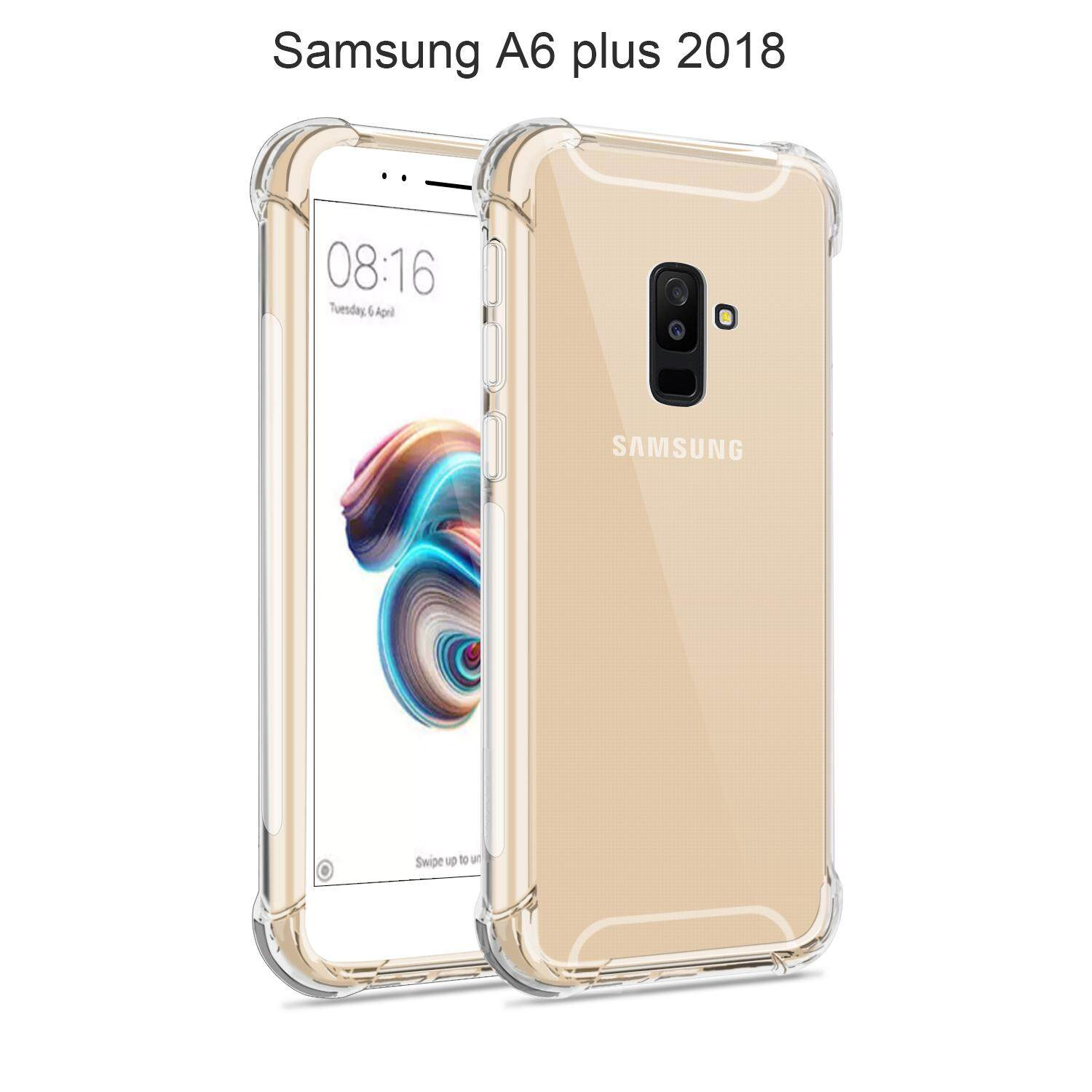 LASTMA Rugger Crystal Galaxy A6 Plus 2018 Case with Air Cushion Technology and Anti Scratch