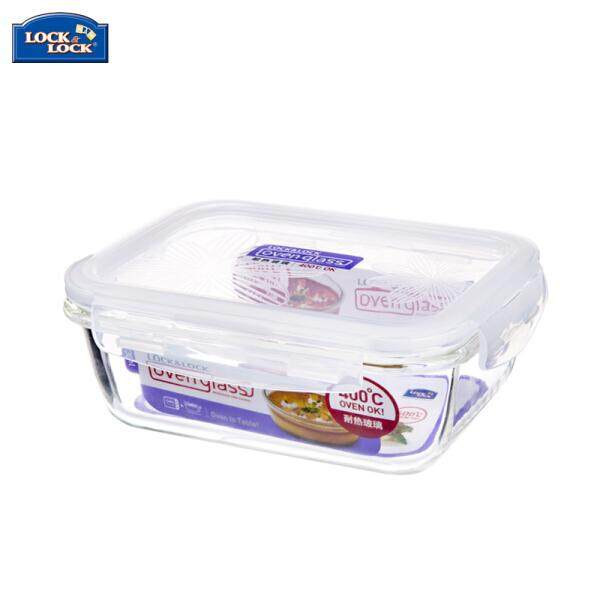 Lock lock deduction lock glass box microwave lunch box Glass lunch box multi-capacity for