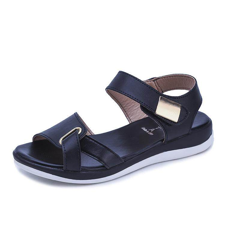 (Spot Kualitas Tinggi) New Sandal Wanita Kehamilan Nyaman Sepatu Pantai Licin Sepatu Roma 3342