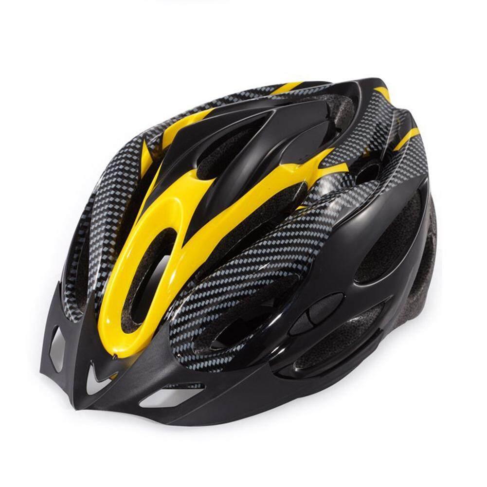 Hossen Unisex Kuning Bersepeda Hitam Mengendarai Helm Universal  Nonintegrated Helm Cetak 7e4b4f1f25