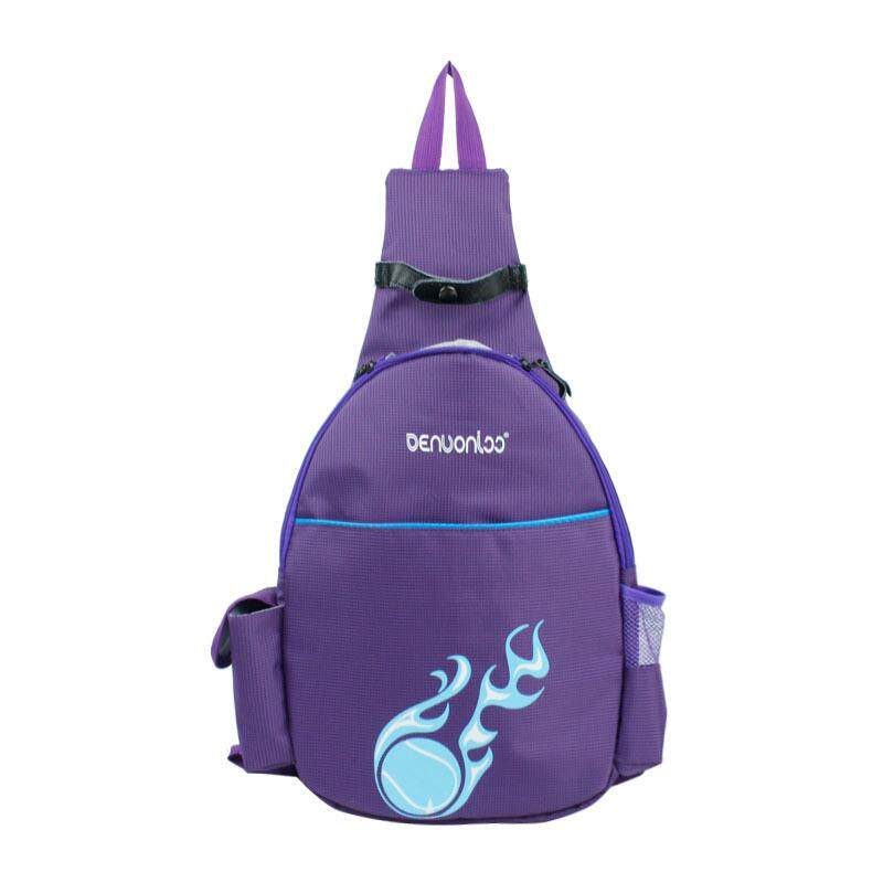Men Women Oxford Cloth Waterproof Tennis Racquet Chest Bag Crossbody Bag  purple 412f1565c59ef