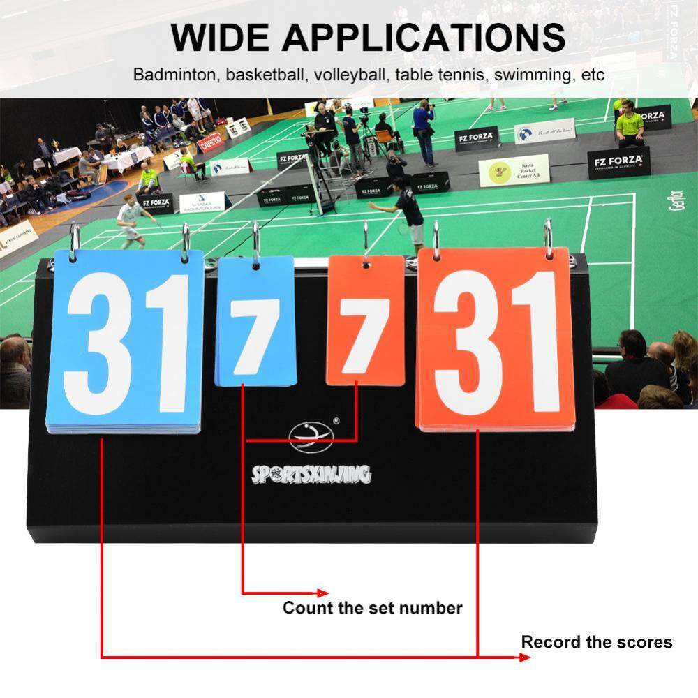 4-Digit Sports Competition Score Board Scoreboard For Table Tennis Basketball Badminton - Intl By Highfly.