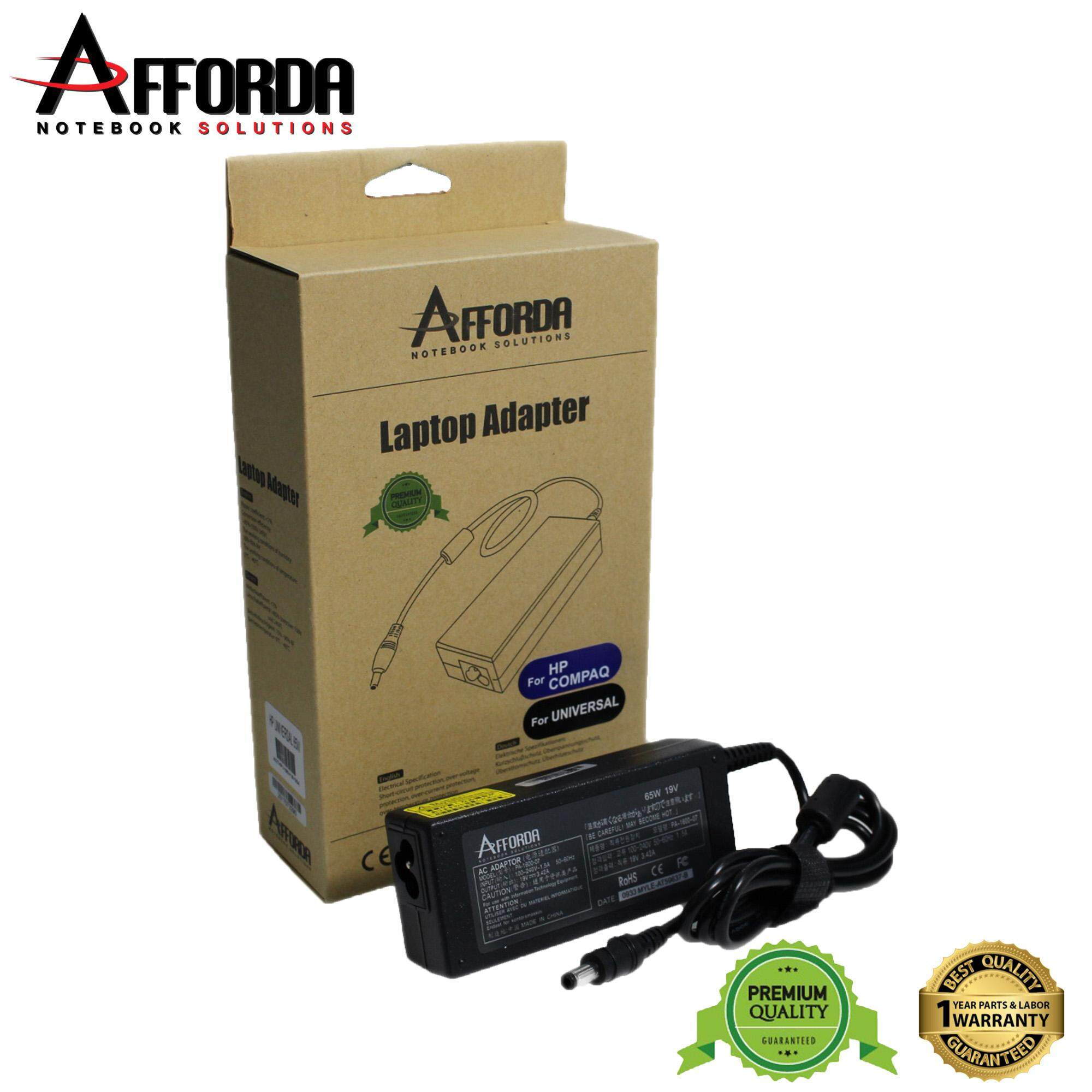 AFFORDA HP UNIVERSAL ADAPTER 65W FOR HP NOTEBOOK