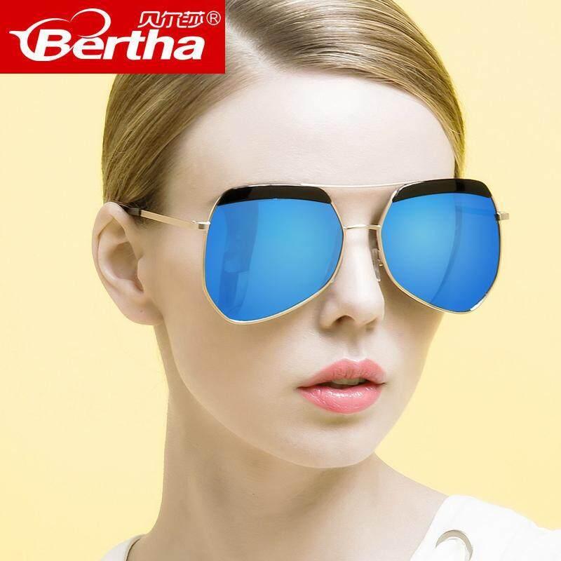 Bertha Model Baru Poligon Polarisasi SUN Kacamata Wanita Retro Kacamata  Aviator Gaya Barat Bingkai Besar Pria 2e8bb2c674