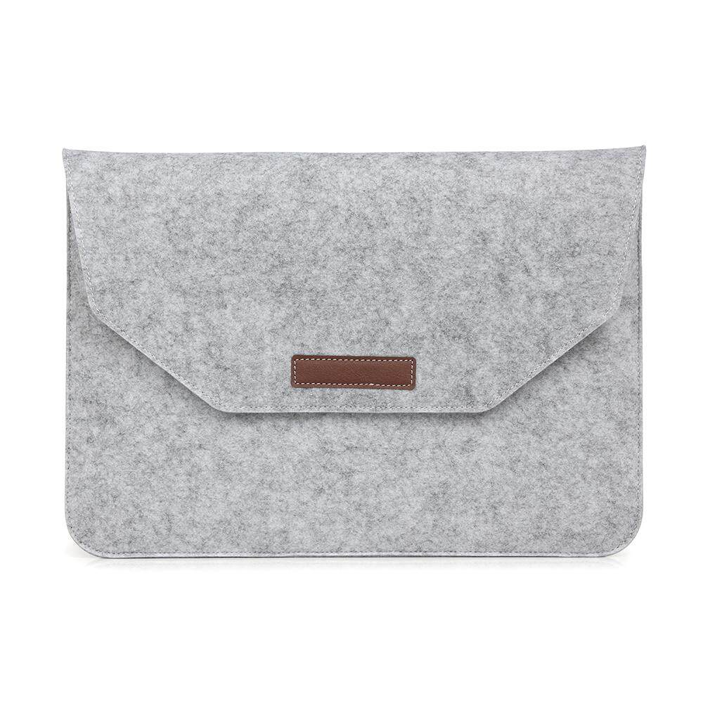 Fashion Lembut Tas Laptop untuk Apple Macbook Retina Air Pro 11 Inci Laptop Anti-Gores Cover untuk MAC BOOK-Abu-abu Muda- internasional