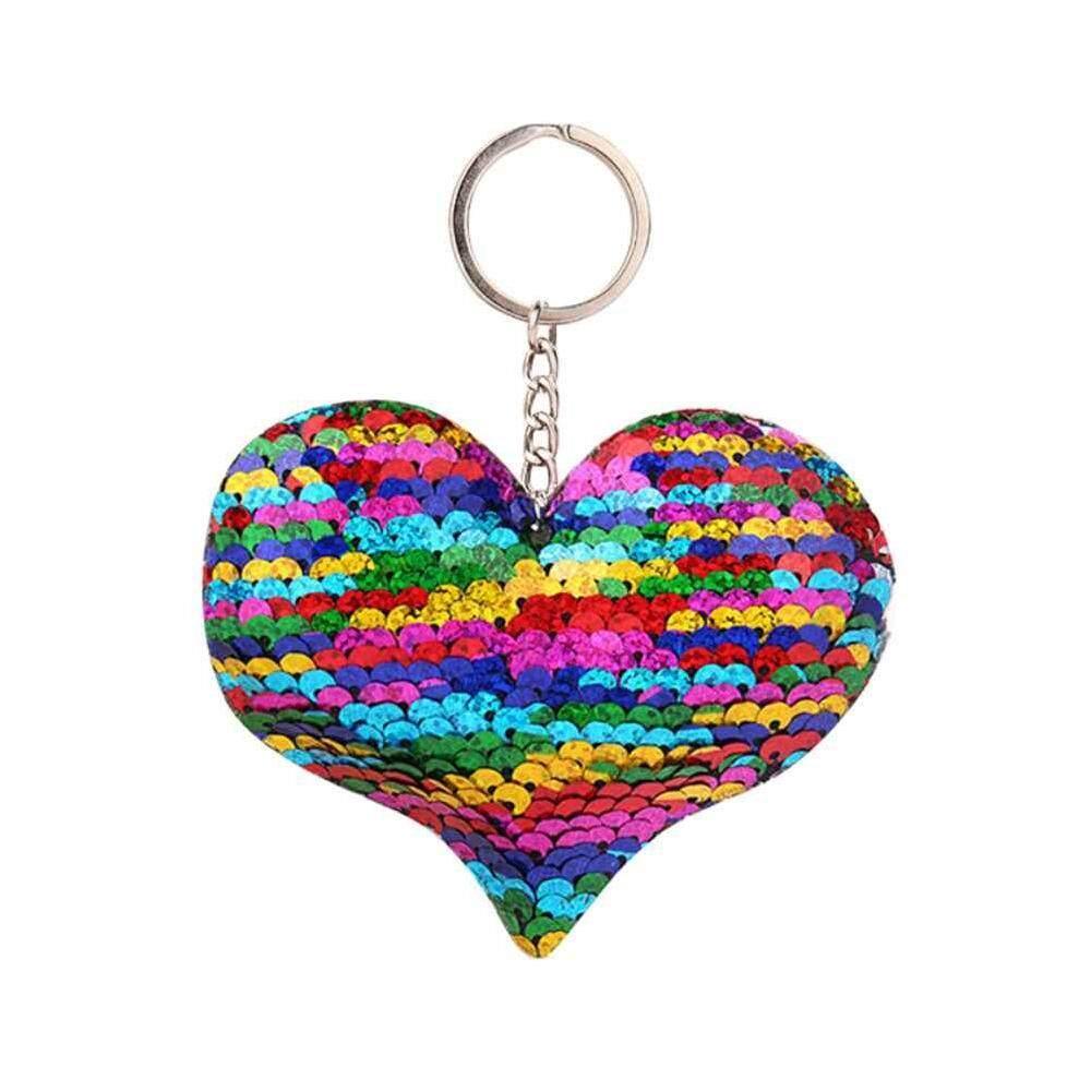 Detail Gambar Zloyi 10 Cm * 15 Cm Payet Mode Jantung Tas Gantungan Kunci Mobil Aksesori