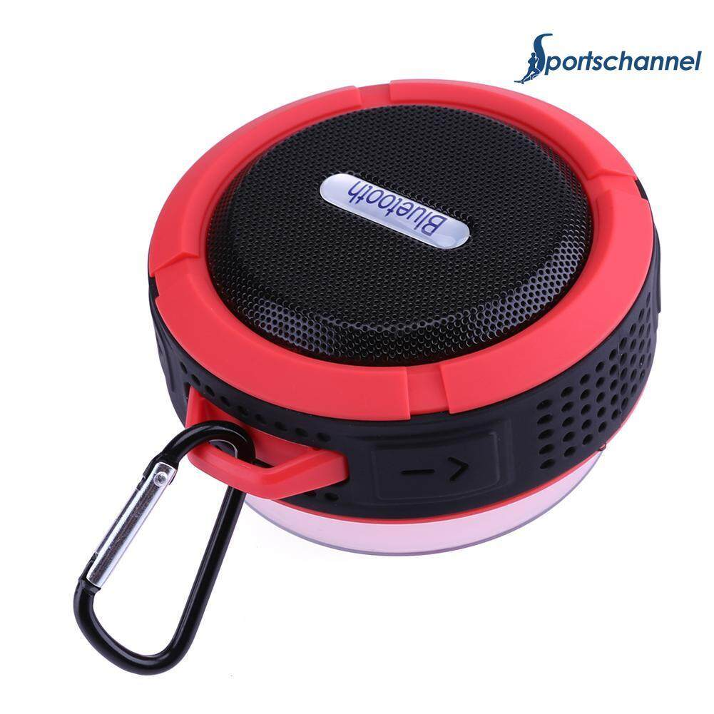 Waterproof C6 Mini Wireless Bluetooth Suction Cup Handsfree Audio Speaker .