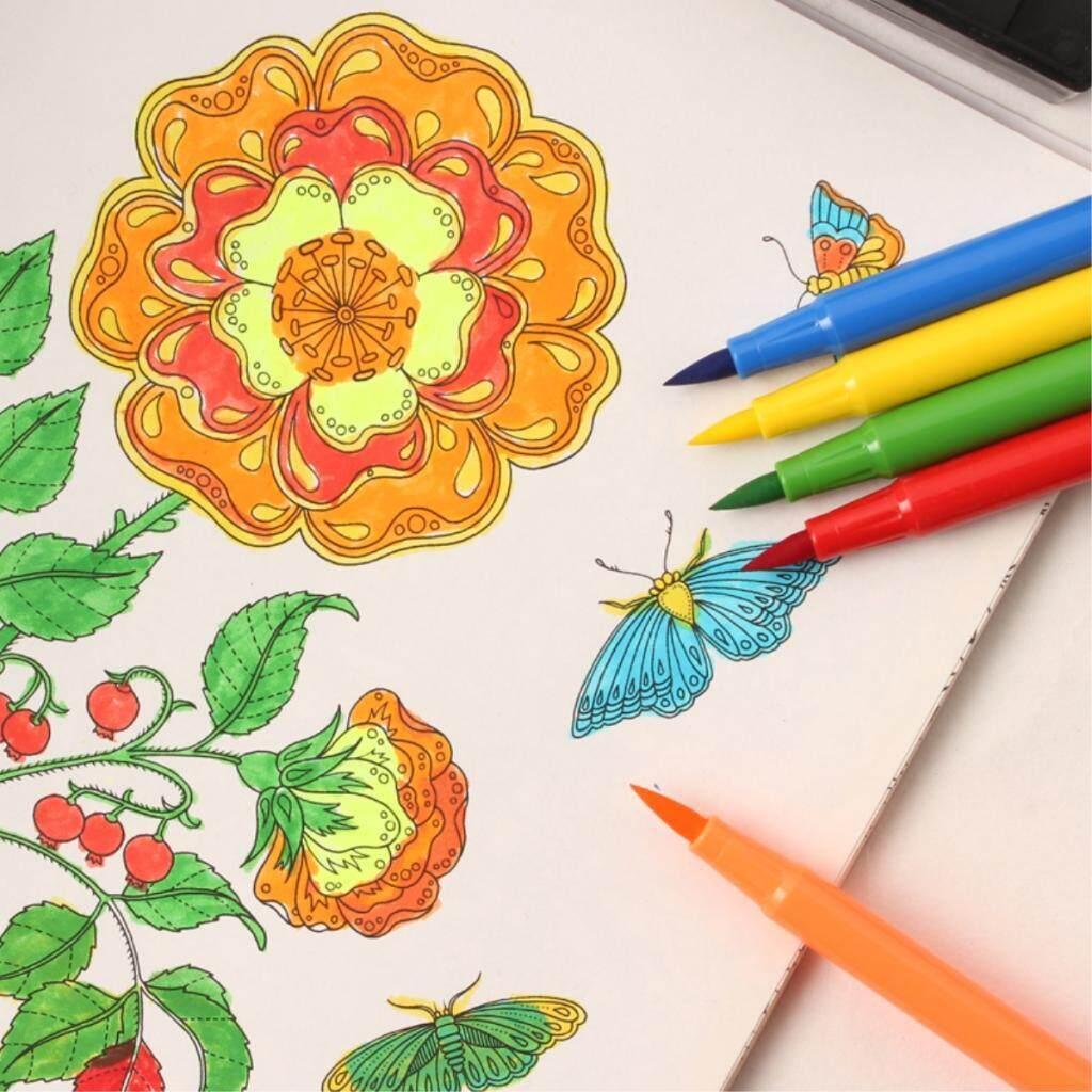Mua BolehDeals 24 Colors Washable Marker Watercolor Pen Kids Painting Brush Art Stationery