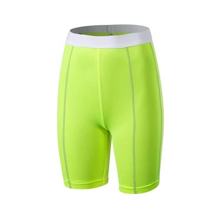 Klasik Elastis 1/2 Yoga Kelima Celana Pendek Celana untuk Wanita Gym/Latihan /