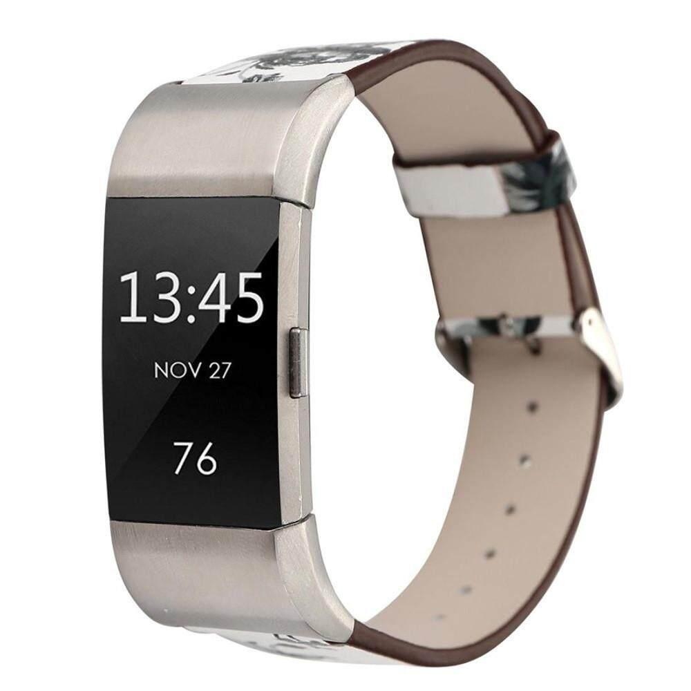 Honioer Pola Kulit Tali Penggantian Gelang Jam untuk untuk Fitbit Charge 2
