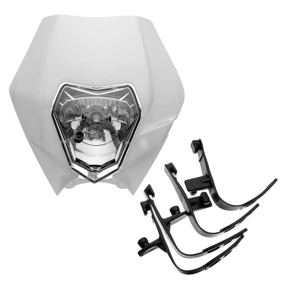 Motorcycle Dirt Bike Motocross Supermoto Universal Headlight KTM SX EXC XCF SXF SMR Headlamp (White) - intl