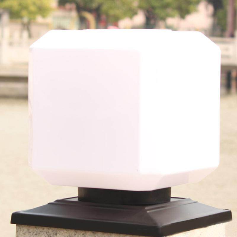 Square Solar Power Lights, Outdoor Garden Fence Post Light, Waterproof Column Pillar Lantern Wall Lamp Specification:Wall Charging Lamp - intl