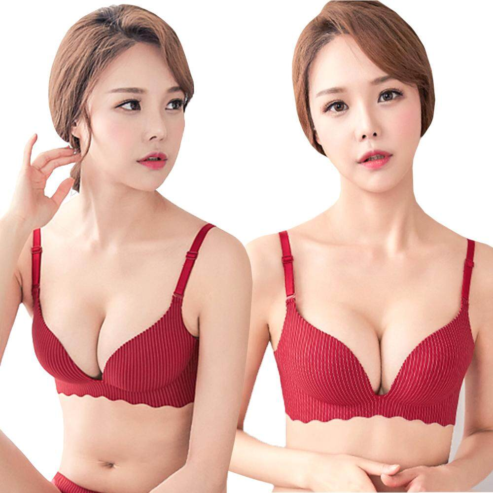 KM Striped Push Up Bra [M23329]