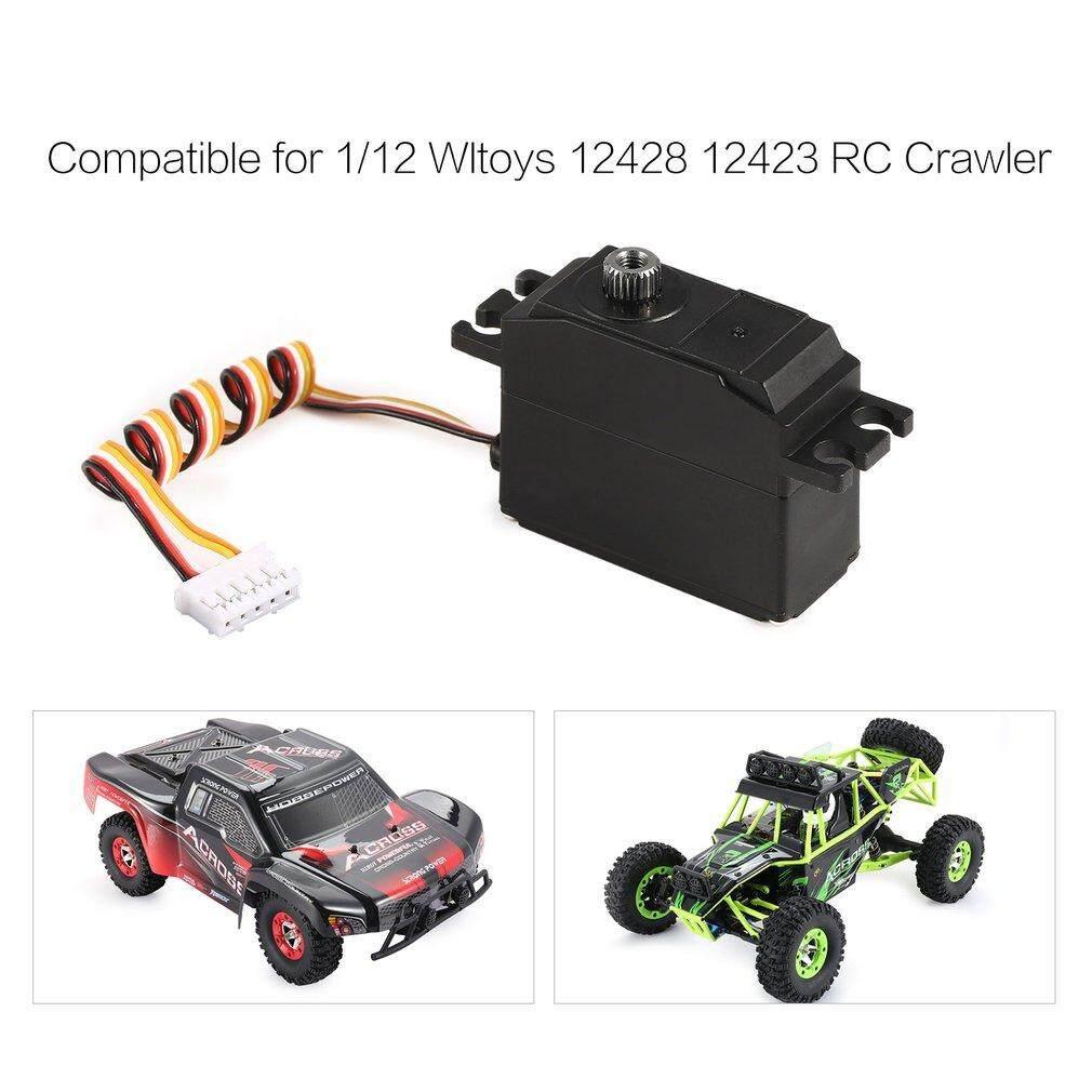 25G Logam Servo Gear 4.8-6 V Ditingkatkan untuk 1/12 Wltoys 12428 12423 Mobil Kendali Jarak Jauh Truk Kemudi Aksesoris Bagian