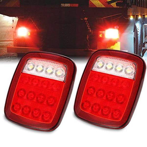 THB 3.357. AMBOTHER Universal Trailer Tail light 2X16 LED Brake Stop Turn Signal ...