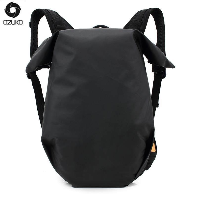 OZUKO 15 Inch Laptop Ransel Pria Backpack Casual Warni dan Tahan Air Oxford Sport Backpack Remaja