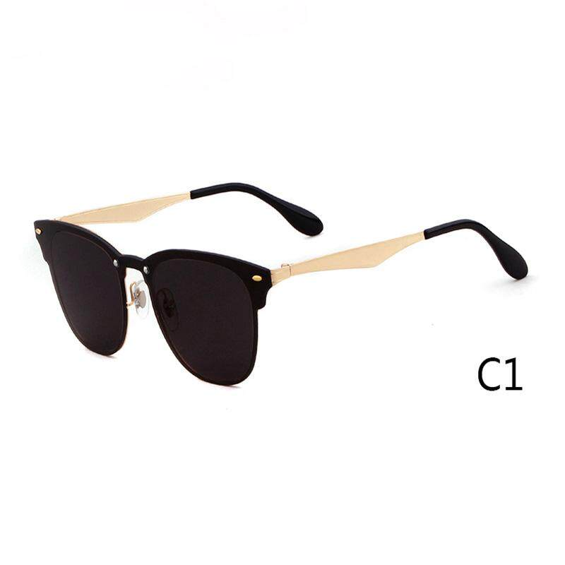 6bca1b772b3c 2018 One Piece Square Sunglasses Men Women Brand Designer Retro Vintage  Fashion Male Rivets Sun Glasses