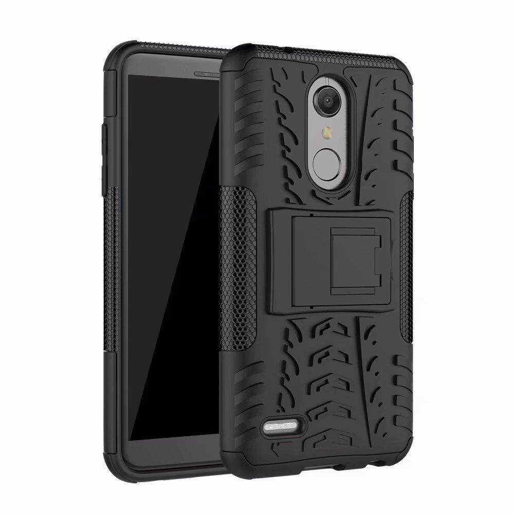 Hard Plastic + TPU Hybrid Combo Armor Back Protective Cover Case For LG K10 2018 (Multicolor) - intl