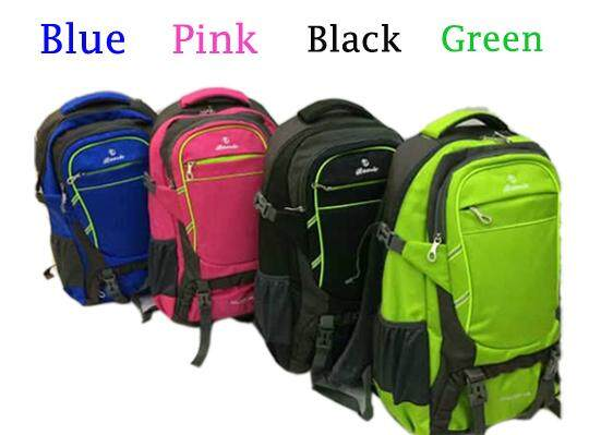 (Black Colour)Hiking Camping Backpack Outdoor Adventure Travel Organizer Bag