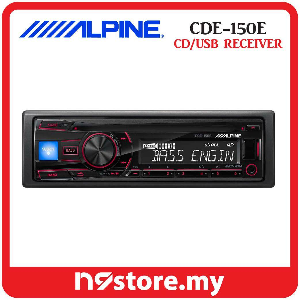 Alpine CDE-150E Single Din Car CD, USB Receiver Car Stereo