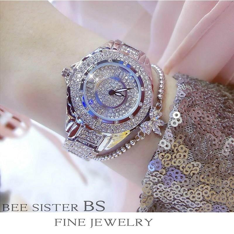 Buy 1 Free 2 Gift BS Top Brand Women Fashion Rhinestone Full Diamond Watch 14b082469618