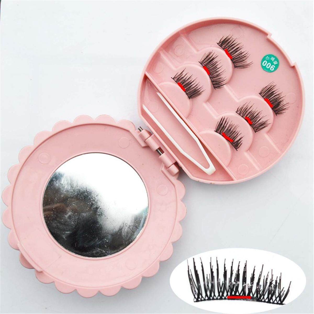 6pcs Reusable Box 3d Magnetic False Eyelashes Long Natural Eye Lashes Extension By Glimmer.