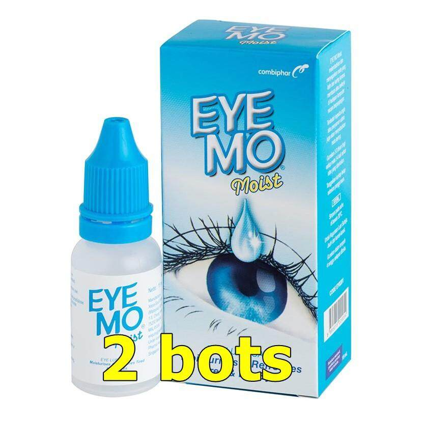 EYE MO MOIST 15ML x 2 bots (MOISTURISES & REFRESHES TIRED & DRY EYES)