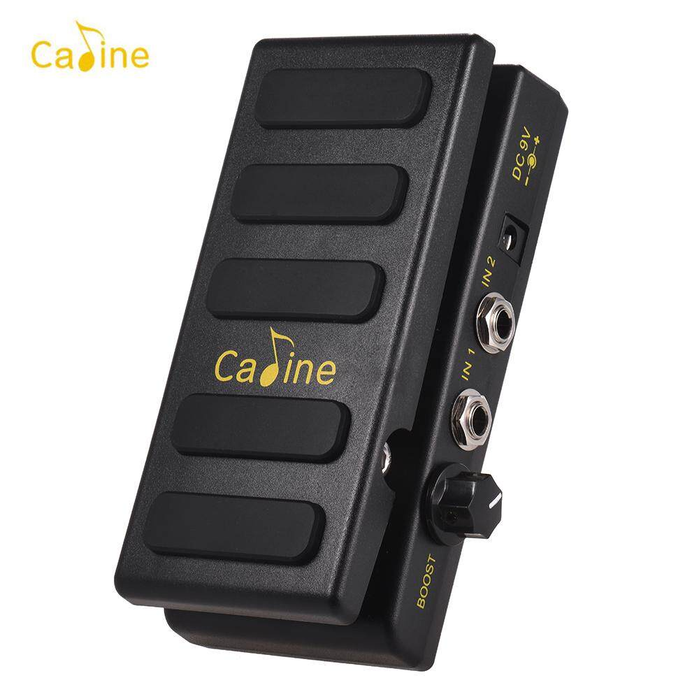 Caline Cp-31p Guitar Volume Pedal Dual Channels With Boost Function True Bypass Full Metal Shell By Tomtop.