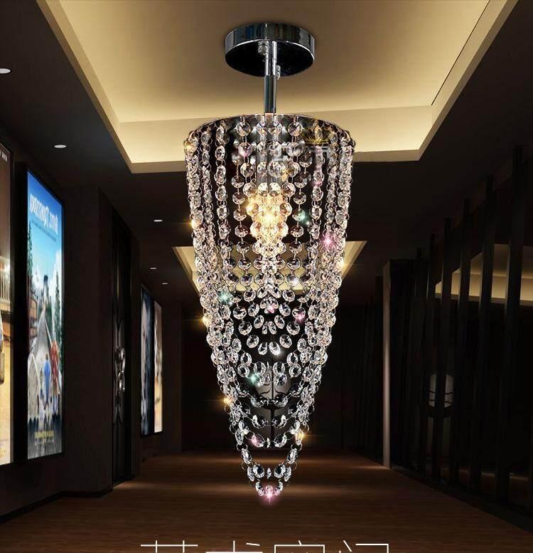 Aisle lamp diamter 17CM height 45CM crystal chandelier 5W entrance hall lighting pendant light LED small