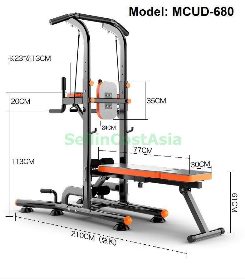 Sellincost Durable 350kg Bench Black With 10kg X 2 Bumper Weight