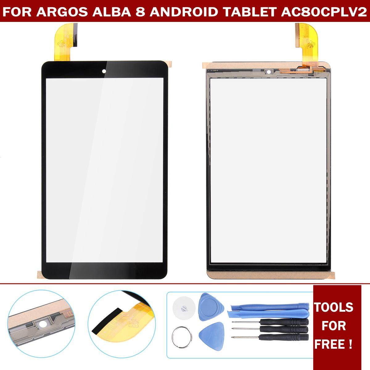 Touch Screen Digitizer Glass + Tools For Argos Alba 8 Android Tablet AC80CPLV2