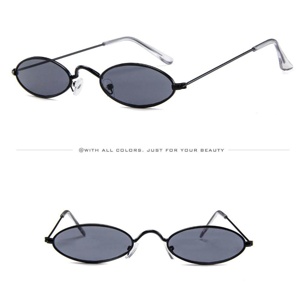 993a3c1c5 Kleinshop Fashion Mens Womens Retro Small Oval Sunglasses Metal Frame  Shades Eyewear - intl