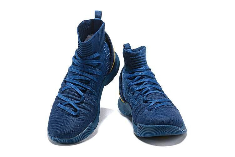 Under Armour Asli Stephen Curry Curry 5 Mid Pria Top Basketaball Sepatu SC  Sneakers (Hitam 8a552ab080