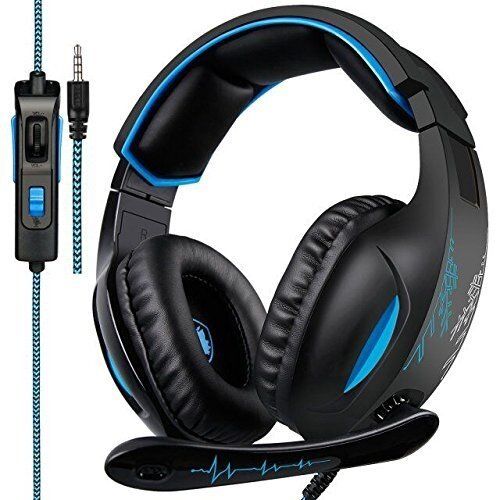Gaming Headset, SADES SA816 Stereo Gaming Headset for PC, Xbox one, PS4 Controller