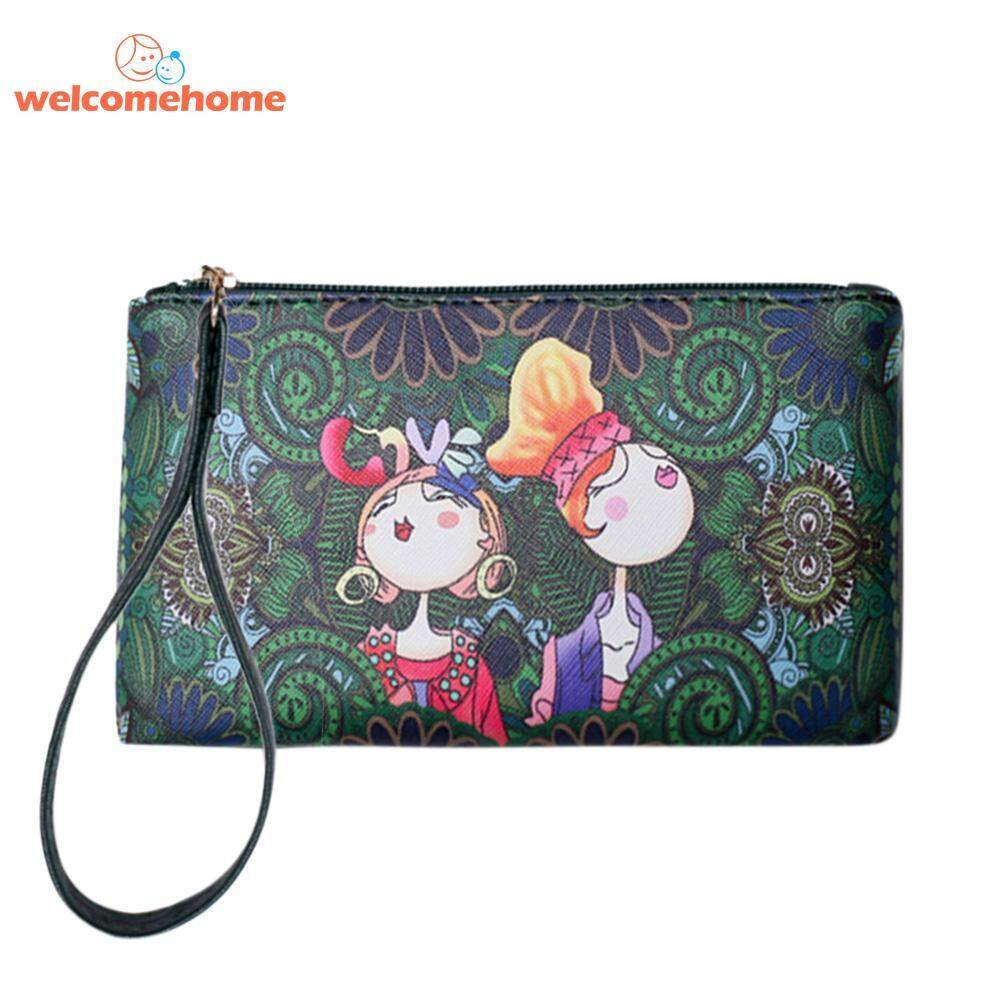8755d6780e1 Philippines. Vintage Women Cartoon Printed Long Clutch PU Leather Purse  Wallets Wristlet - intl