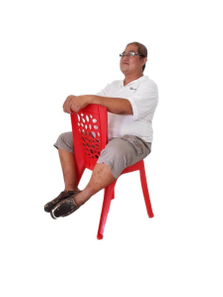 Plastic Chair -Cafe style-Red- 2 Units