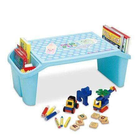 Child Kid Desk Table Children Furniture Drawing Studying Tables (Blue)