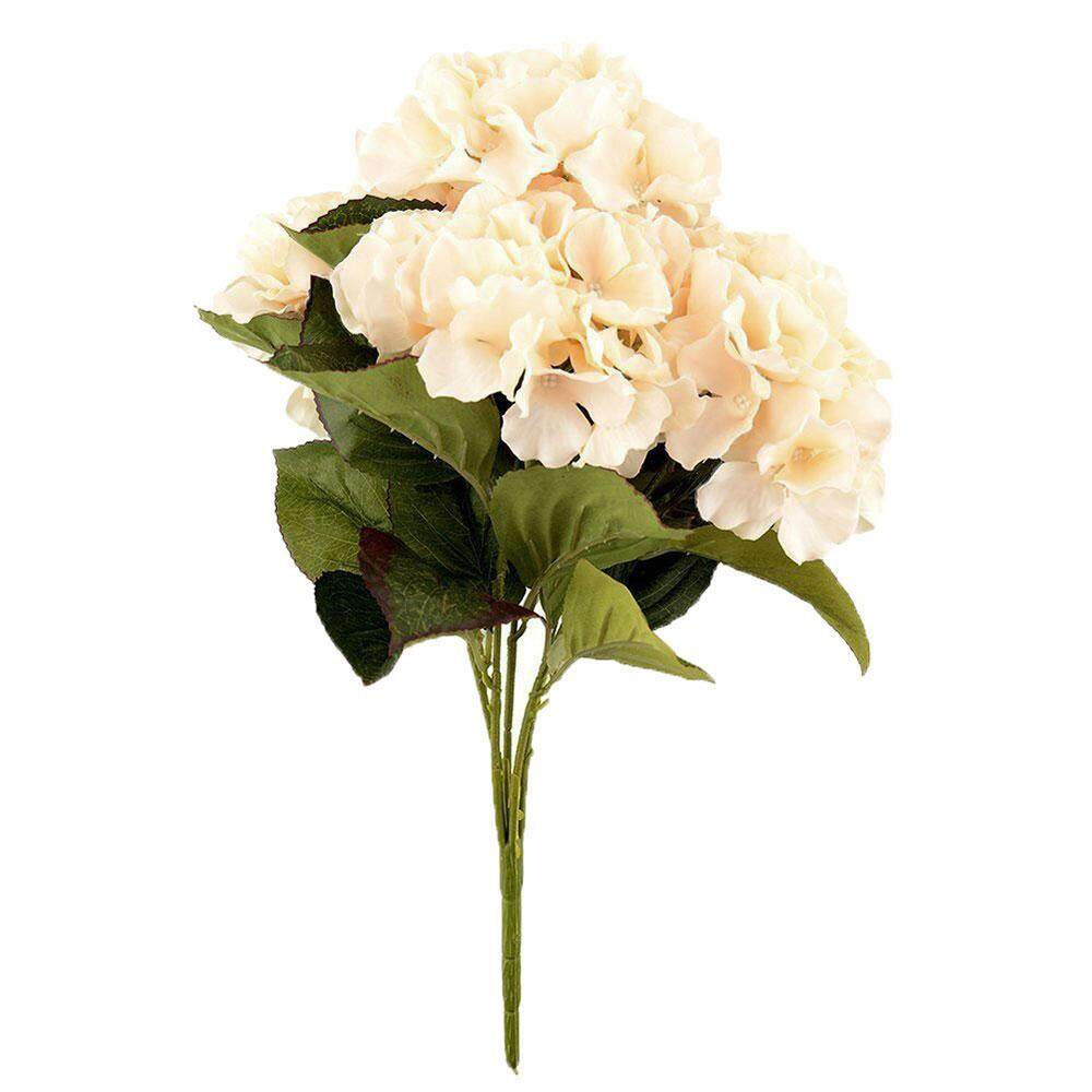 opoopv Artificial Hydrangea Flower 5 Big Heads Bounquet Home Party Wedding Decor(Green) - intl