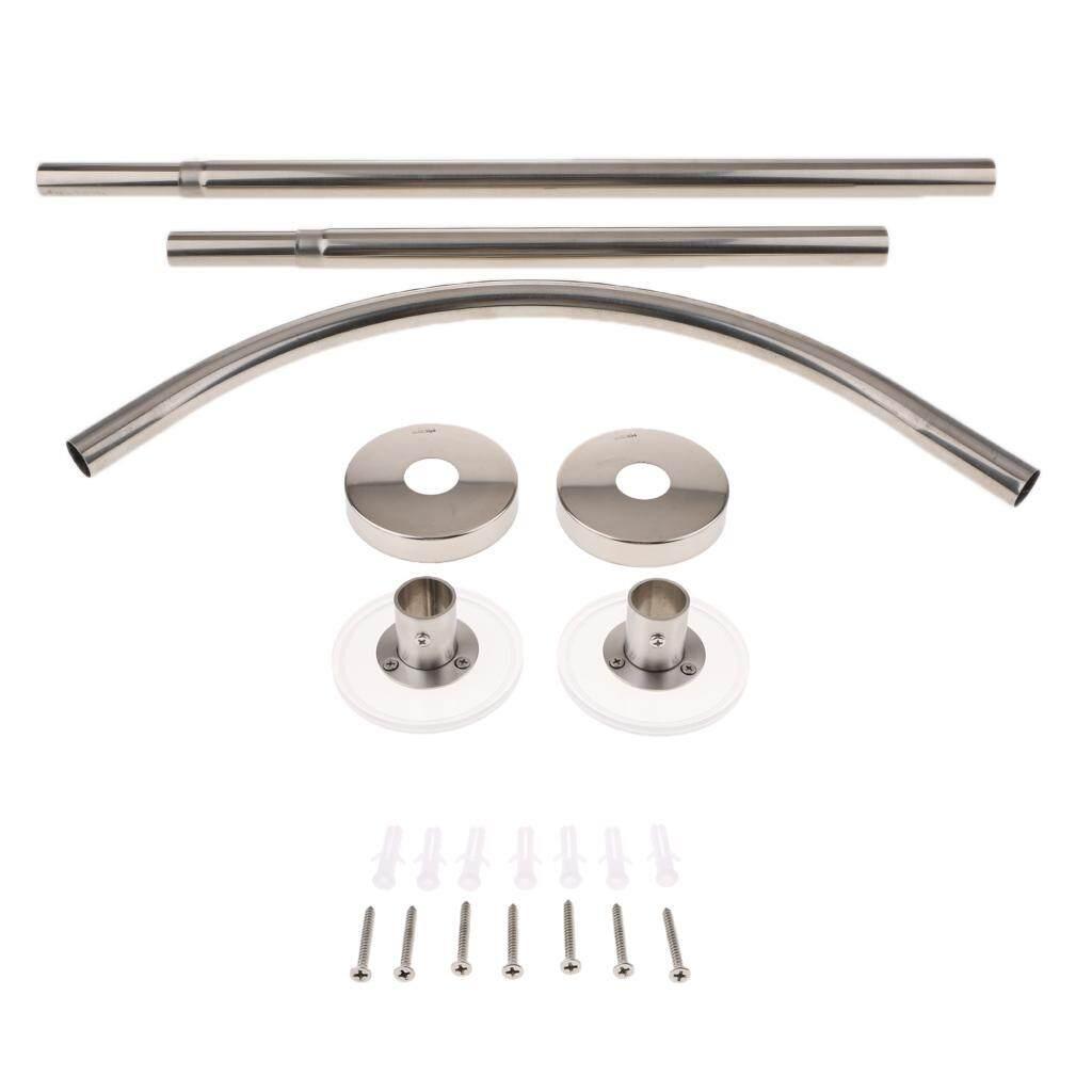 BolehDeals Adjustable Curved Shower Curtain Rod 17 24inch Bath Tub Bathroom Bar M