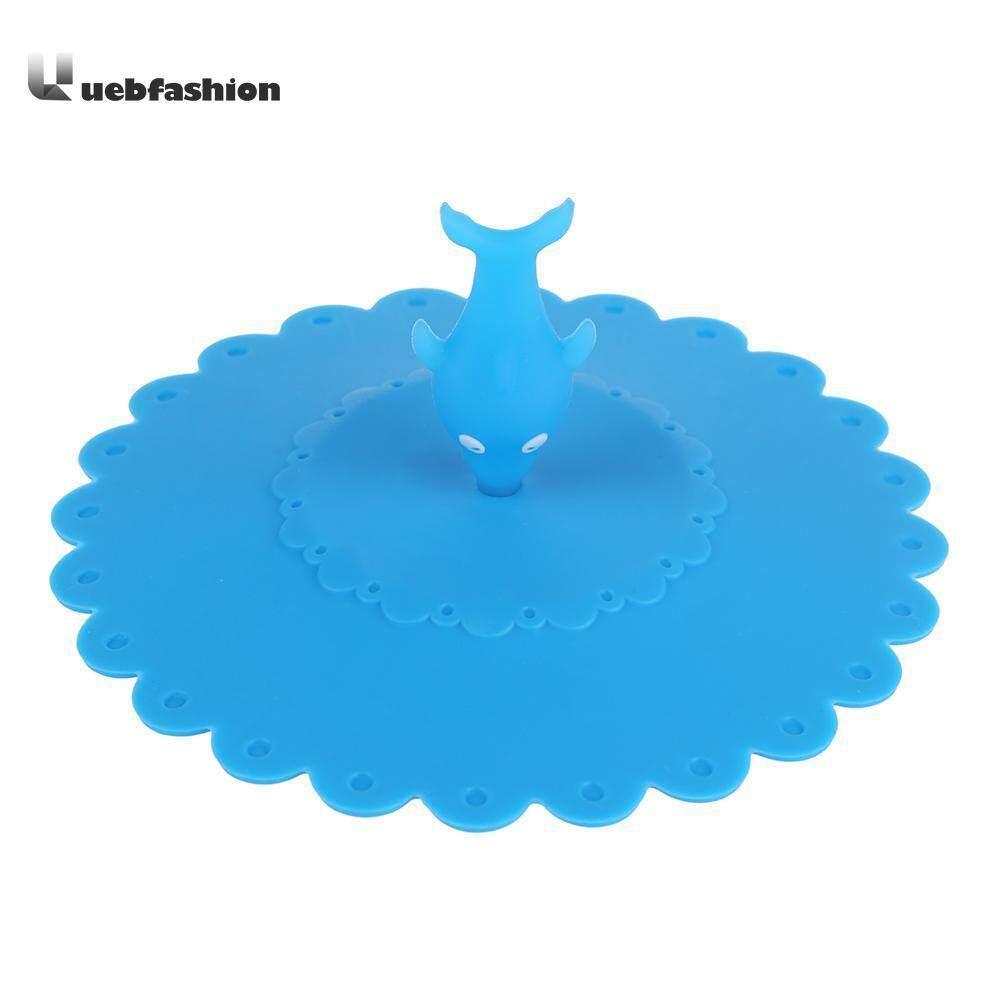 Cartoon Sea Fish Silicone Cup Cover Dustproof Leakproof Tea Coffee Seal Lid