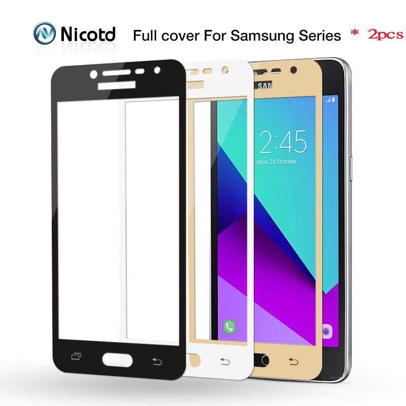Banyak 9 H Penutup Penuh Kaca Tempered untuk Samsung Galaxy A3 A5 A7 2016 2017 S6 S7 J2 J5 J7 Prime Catatan 4 Catatan 5 Screen ...
