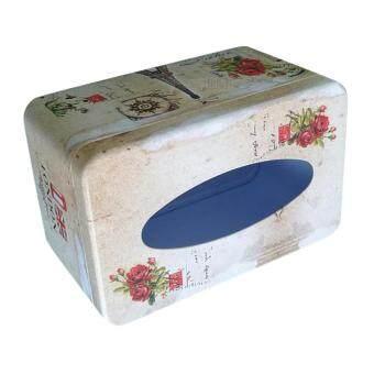ขายช็อก BolehDeals Tissue Box Cover Napkin Holder Car Paper Storage Container Tin Case Kitchen ซื้อเลย - มีเพียง ฿143.40