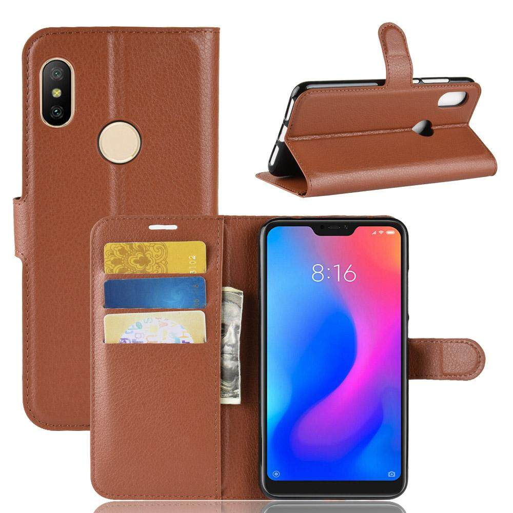 Case for Xiaomi redmi Note 6 Pro PU Leather Flip Wallet Holder Phone Bags for Xiaomi