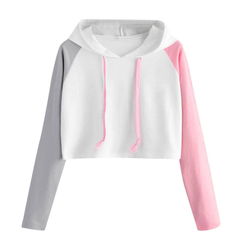 Kohlershop Womens Casual Long Sleeve Hoodie Sweatshirt Hooded Pullover Tops Blouse Free shipping
