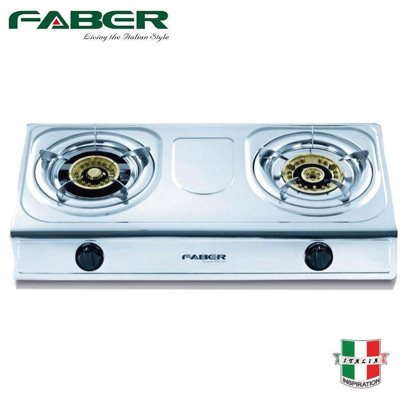 Faber FS1022 Stainless Steel Gas Cooker 2 Burner FS 1022