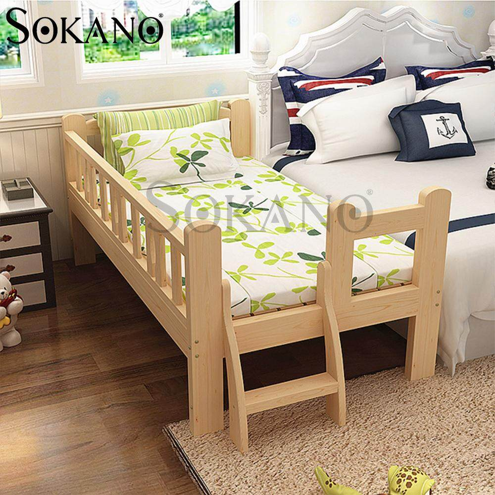 (RAYA 2019) SOKANO HA231 Easel Wooden Baby Bed Baby Cot Attached to Parents Bed with Staircase